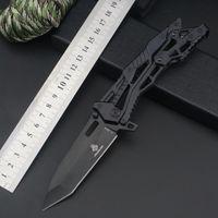 EDC 접이식 칼 과일 칼 접이식 나이프 휴대용 자기 방위 세이버 야외 포켓 정품 JL 잠금 해제