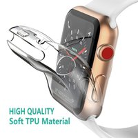 Full Case For Apple Watch 6 SE 5 4 3 2 Protective TPU Clear Ultra-Thin Iwatch Series 38mm 42mm 40mm 44mm Screen Protector Cover