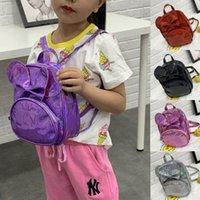 학교 가방 도착 멀티 컬러 귀여운 아기 키즈 유아 블링 보우 매듭 레이저 미니 배낭 어깨 가방 소년 소녀