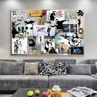 Banksy Graffiti Collage Art Pop Toile Peinture Affiches et impressions Cuadros Art mural pour salon Décoration de la maison