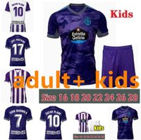 21 22 Real Valladolid Futebol Jerseys Fede S. Sergi Óscar Plano Camisetas de Fútbol 2021 2022 M.Salisu Camisas de Futebol Homens Kit Kids Kit