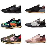 Männer Camouflage Trainer Chaussures Sneakers Schuhe Schuhe Schuhe Wohnungen Frauen Mode Stud Sport Rockrunner Lässige BfPuk