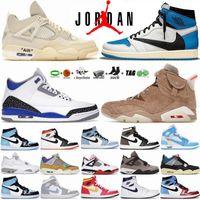 Tech White Oreo 4 4s Chaussures de basket-ball pour hommes University Blue Hyper Mocha Jumpman 1 1s Sneakers Black Cat 6 6s UNC Gold Hoops Racer 11 11s sport femmes