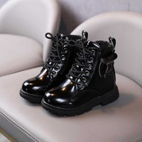 2021 New Black Classic Kids Martin Boots Boys Girl Short Boots Non-slip Side Zipper Wearable Rubber Sole Children's Shoes G0908