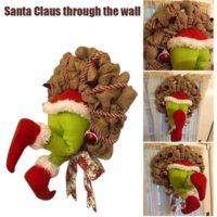 EE. UU. Decoraciones de la guirnalda de la Navidad, cómo la grinch robó la guirnalda de la arpillera de la Navidad super lindos y encantadores grandes regalos C2998