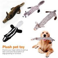 Cat Toys Lovely Pet Dogs Chew Plush Cartoon Animals Squirrel Cotton Rope Shape Bite Toy Duck Shaped Squeak