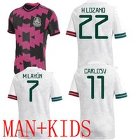 2021 Мексика футбольные трикотажные изделия Главная H.Lozano Own SD Raul J.M.corona Chicharito Специальный розовый игрок версия мужчин дети 20 21 сборная футбола