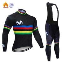 레이싱 세트 2021 블랙 M 글자 겨울 열 양털 사이클링 세트 자전거 의류 MTB 자전거 의류 저지 Maillot Ropa Ciclismo