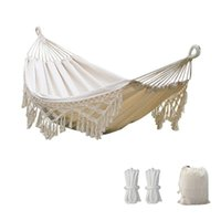 Tents And Shelters Outdoor Garden Hammock Tassel Canvas Swing Chair Hanging Bed Hiking Camping Hunting Foldable Po Props