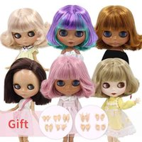 ICY DBS Blyth doll joint body short oil hair and tan white black skin special price icy Licca toy girl gift 210923