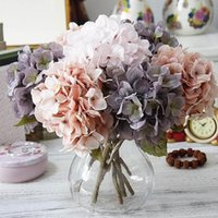 Decorative Flowers & Wreaths Autumn Silk Hydrangeas Artificial Wedding Bridal Bouquets Decoration For Table Home Fake Outdoor Craft