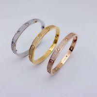 Luxurys Designers Fashion High-End 316L Титановый сталь Микроиннадный алмазный браслет