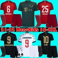 바이에른 유니폼 22 22 Lewandowski Sane Goretzka Munich Coman Muller Davies 축구 축구 셔츠 남성 + 키즈 키트 2021 2022 스페셜 에디션 Oktoberfest 세 번째 탑스