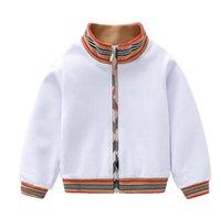 Мода мальчики куртка детская полоса с длинным рукавом повседневная университет детская толстовка для мытья одежды дизайнерский стиль детская одежда A5947