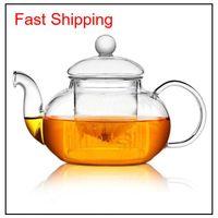 Yüksek Kaliteli Isıya Dayanıklı Cam Çiçek Çaydanlık, Pratik Şişe Çiçek Çay Fincanı Cam Çaydanlık Demlik Çay Yaprak Ile Bitkisel Kahve Xi0qy TBNLV