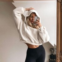 Women's Hoodies & Sweatshirts Women Faux Fur Hooded Casual Fashion Warm Thick Autumn Winter 2021 Loose Long Clothes Solid Outfit Coat