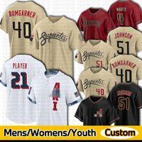 2021 COUNTH CONNECT JERSYSS MADISON Bumgarner Ketel Marte Pavin Smith Josh Rojas Christian Walker IdeMaro Vargas Alex Молодые мужчины Женщины молодежи на заказ бейсбол