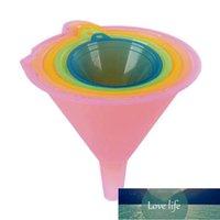 5 قطعة / الوحدة الملونة البلاستيك القمع صغير متوسط كبير لي متوسطة المتوسطة قمع النفط مجموعة السوائل تنوع صغير متنوعة النفط المطبخ كبير B3L8