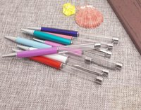 Ballpoint Pens Metal Silver Clip No Copper Oil With Empty Barrel Gold Foil Ball Point Pen For Writing School Office
