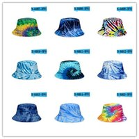 Gradient Tie-dye bucket hat Summer caps unisex Visor flat top sunhat fashion outdoor hip-hop Fisher cap adults kids beach sun hats