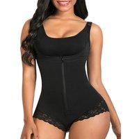 Women's Shapers Women Tummy Control Fajas Colombianas Body Shaper Zipper Flat Stomach Shapewear Colombian Reductive Girdle Full Shaperwear