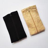 Calcetín de 100 pares con cremallera calcetines de la pierna de la compresión Mujeres cremallera ultrathin transpirable zip sox xh1x70