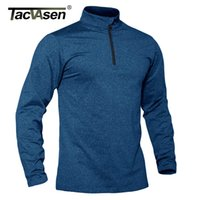 Tacvasen Spring / Fall Sports Sports Sweater Masculino 1/4 Zipper Tops Respirável Ginásio Running T Camiseta Pulôver Masculino Activewear X0712
