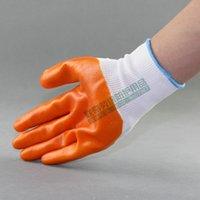 Тюхожильные перчатки, ПВХ скотовозятный труд, пропитанные защитным клеем, все средние висячие нейлоновые каучуки, COTTION