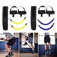 Резистическая полоса Фитнес подпрыгивая тренер веревки баскетбол теннис бегущий прыжок ногой силы тренировки ловкость тянуть ремешок оборудование R1ab #