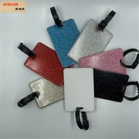 Blank Sublimation PU Leather baggage Luggage tag Holder for Hot transfer Printing Leather Blank DIY 10*7CM