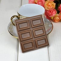 Creative cute Foldable Lovely Mini Makeup Mirror Chocolate Cookie Shaped Square Pocket cosmetic Mirrors Glass for Women Girl Fashion Gift