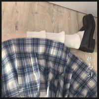 YouMa S1 Lattice Ortodoxo JK Uniforme Estudiante Pliegues Falda de estilo universitario fresco