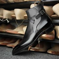 Men's High Quality PU Leather Boots Low Heel Fashion Trend Spring Ankle Retro Classic Casual Roman ZZ172 211022