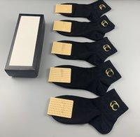Moda Baskı Çorap Erkekler Kadınlar Saf Pamuk Ayak Bileği Kısa Çorap Nefes Açık Eğlence Siyah Beyaz Renk Iş Çorap