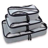 Sacos de Armazenamento 6 Pcs Bagagem Embalagem Zipper Encerramento Square Airline Transportar mala de malas Organizador Roupas Início Uso de água Resistente à água