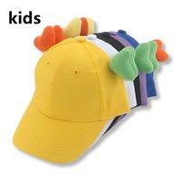 Men's Caps Boys Grils Hats Cap Baseball Caps Kids Hat Children Cute Adjustable 50-55cm Ear Outdoor Baby Hat New Gorras Hombre