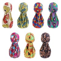 Scarves Unique Printed Turban Hat Riding Western Style Baotou Cap Outdoor Pirate