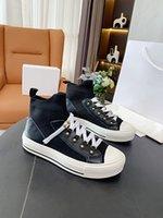 2021 Ultime Dark Blue Twill Technical Technical Mesh Shoes Luxurys Small Insert Gomma Suola con Star Fortuni Designer Scarpe da donna Walk'n 'Mid Sneaker