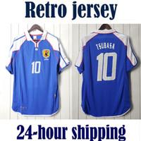 2000 اليابان الوطنية الرجعية camisetas دي fútbol لكرة القدم جيرسي خمر كرة القدم قميص كلاسيكي camiseta