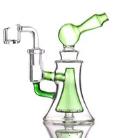 Hookahs mini Dab Rig Colorful Thick water pipe glass bong 14mm Joint Oil Rigs With 4mm Quartz Banger