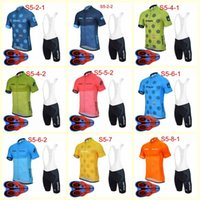 Strava equipe ciclismo mangas curtas jersey bib shorts conjuntos verão respirável lycra esporte desgaste roupas bicicleta ropa ciclismo u82409