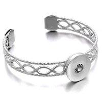 Fashion Snap Bracelets Interchangeables Big Snap Bouffre Bracelets Ajustez 18mm Snap Bouton Bijoux pour Wom Jllum