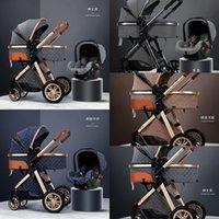 2020 عربة طفل جديد 3 في 1 ارتفاع مشهد عربة مستلق عربة طفل طوي ضوء مع الباسينيت cradel 390 U2