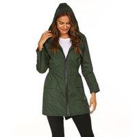 Women's Trench Coats Womens Lightweight Raincoat For Women Waterproof Outdoor Hiking Jacket Long Rain Jackets Active Rainwear