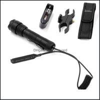 Y CAM Senderismo Deportes Outdoors OutdoorsCree XM-L2 U3-1A 1Mode (ON / OFF) Lámpara de caza LED + Interruptor remoto táctico + Cargador + Montaje en la pistola + Flaster FlashLigh