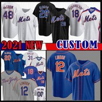 12 Francisco Lindor Pete Alonso Jacob Darryl morango Baseball Jersey Noah Mets Syndergaard New Michael Conforto York Dwight Gooden