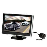 5 بوصة TFT شاشة LCD مراقب سيارة الرؤية الخلفية النسخ الاحتياطي عكس النظام + HD وقوف السيارات الكاميرا