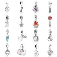 NEW 2021 100% 925 Sterling Silveand791169 Signature Hanging Charm (Engravable)and luxuriousDIY Women Original Bracelet Fashion Jew elry Gift