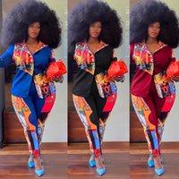 Women's Large Size Tracksuits Women Fashion Printing Two Piece Suit Plus Sizes Blazer Pants Sets Casual Business Suits L-XXXXL