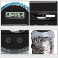 Kumbara Sayacı Para Elektronik Dijital LCD Sayma Para Para Tasarrufu Kutusu Kavanoz Paraları Saklama Kutusu USD Euro GBP Para 158 S2